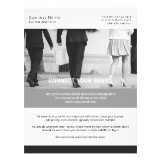 Custom Made Business Themed Black and White Personalized Flyer