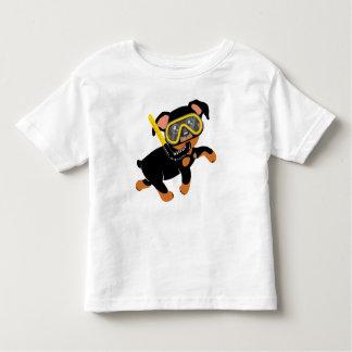 Custom Made for Baby Ryan Swimming Min Pin Toddler T-shirt