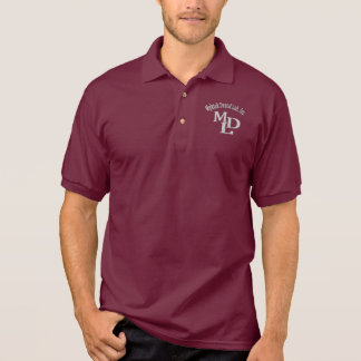 """Custom-made MDL Maroon Polo """"without name"""""""