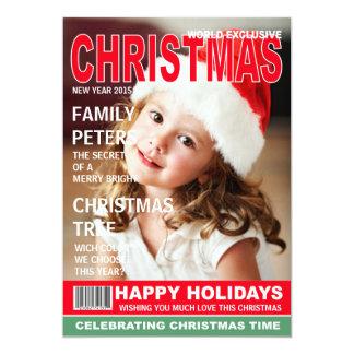 "Custom Magazine Cover | Holiday Photo Card 5"" X 7"" Invitation Card"