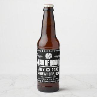 Custom Maid of Honour Beer Bottle Label