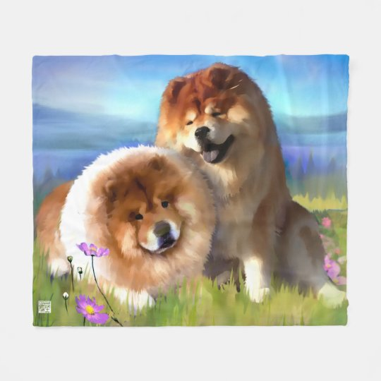 CUSTOM Maiya and Eli Fleece Blanket Medium