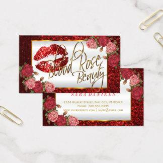 Custom - Makeup Artist - Red Rose Business Card
