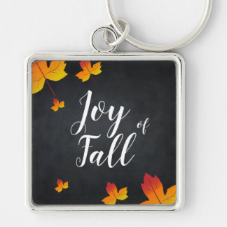 Custom Maple Leaf Blackboard Fall Season Even Keychain