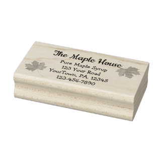 Custom Maple Syrup Business Rubber Stamp