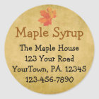 Custom Maple Syrup Maple Leaves Business Sticker