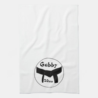 Custom Martial Arts Black Belt Kitchen Towel