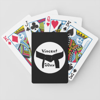 Custom Martial Arts Black Belt Playing Cards
