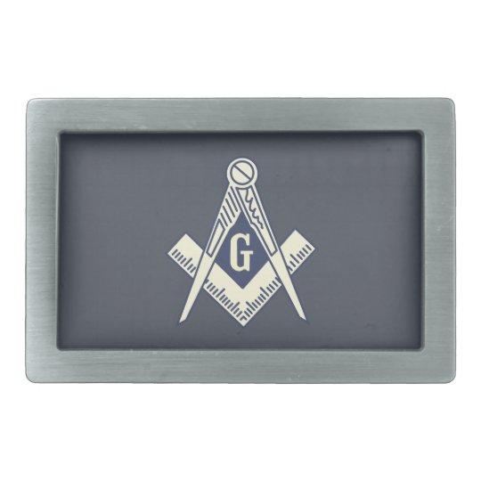 Custom Masonic Blue Lodge Belt Buckle Rectangle