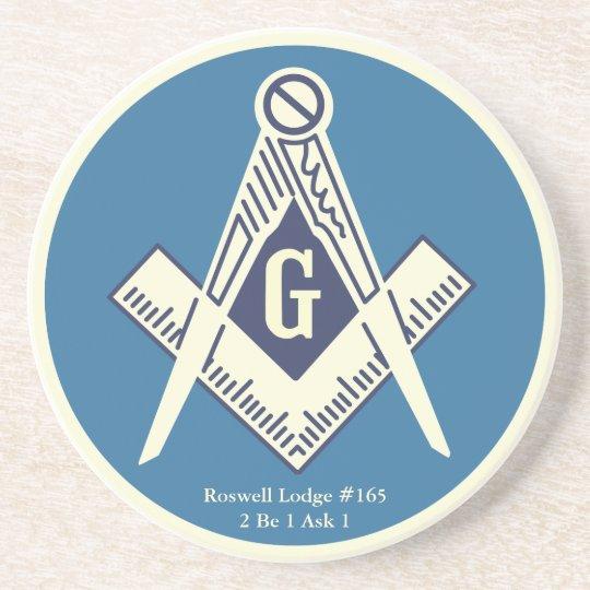 Custom Masonic Blue Lodge Coaster
