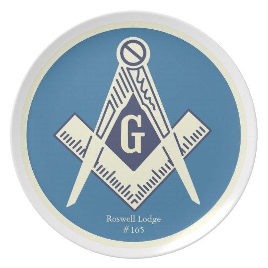 Custom Masonic Blue Lodge Dinner Plates
