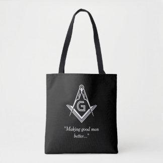 Custom Masonic Gifts | Black Freemason Tote Bag