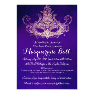 Custom Masquerade Ball Charity Event Invitations
