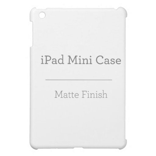 Custom Matte iPad Mini Case