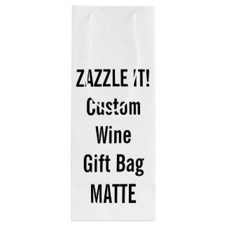Custom MATTE Wine Gift Bag Blank Template