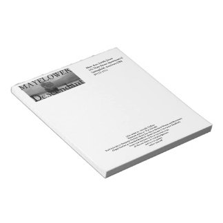 Custom Mayflower Ancestors line Notepad