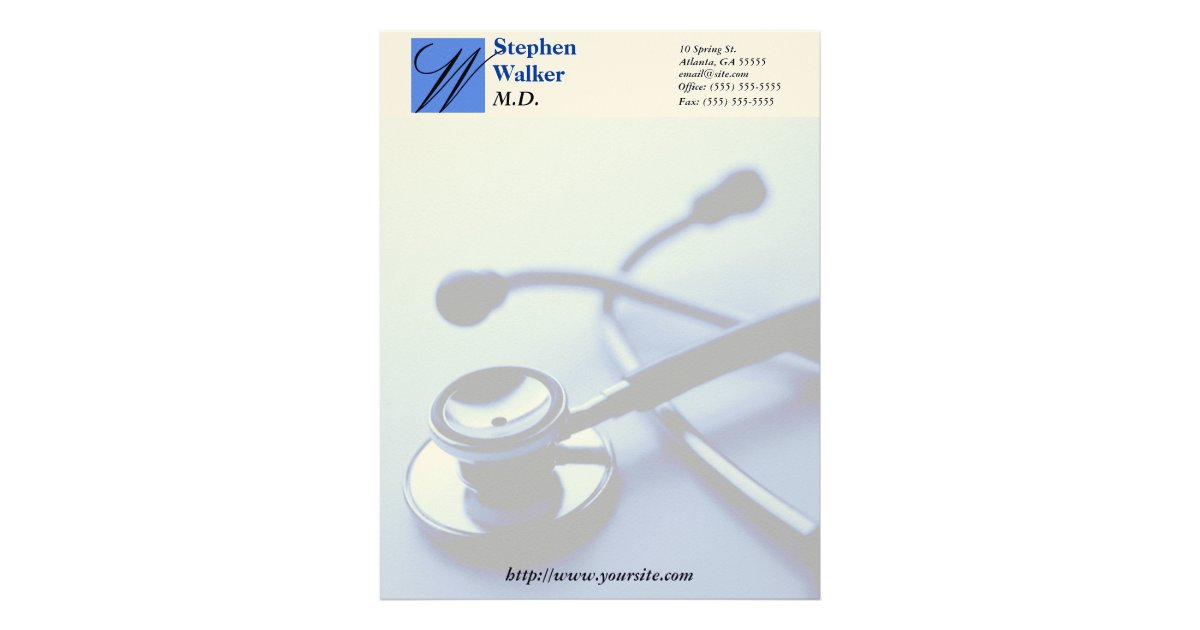 doctors letter custom doctor stationary letterhead zazzle ca 10588