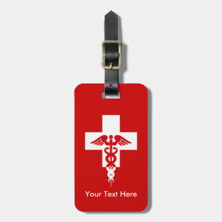 Custom Medical Professional luggage tag