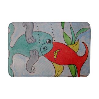 Custom Medium Bath Mat w/fish