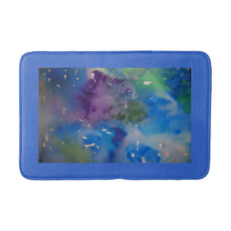 Custom Medium Bath Mat with abstract design