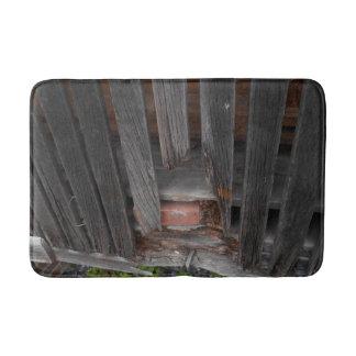 Custom Medium Bath Mat with old wood & brick