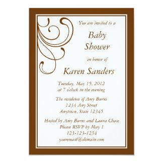 Custom Medium Brown Invitation - Elegant Flourish