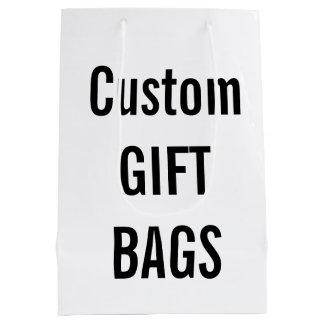 Custom MEDIUM GLOSSY Gift Bag Blank Template Medium Gift Bag