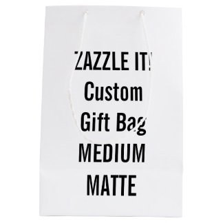 Custom MEDIUM MATTE Gift Bag Blank Template Medium Gift Bag