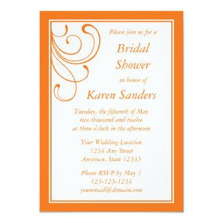 Custom Medium Orange Invitation - Elegant Flourish