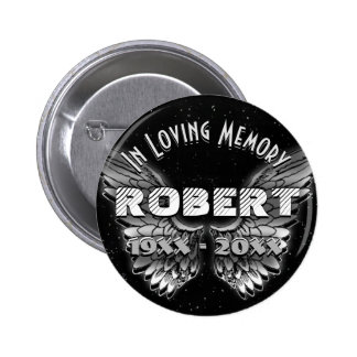 Custom Memorial Angel Wings 2 Inch Round Button