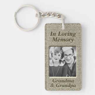 Custom Memorial Antique Gold Look Keychain