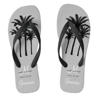 Custom Mens Beach Wedding Flip Flops