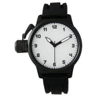 Custom Men's Crown Protector Black Rubber Strap Watch