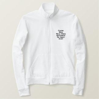 Custom Mens Fleece Embroidered Zip Jogger Jacket