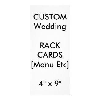 "Custom Menu & Program Cards 9""x4"" Vertical"