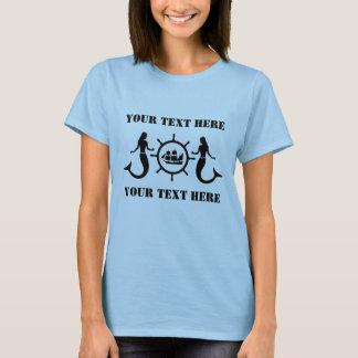Custom Mermaids Nautic Blazon T-Shirt