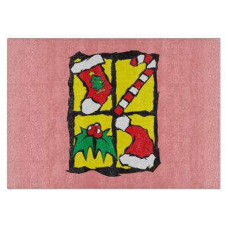 Custom Merry Christmas  Apron Plates Napkins Cutting Board