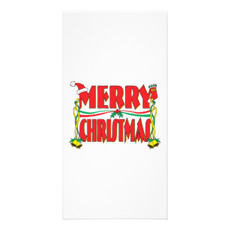 Custom Merry Christmas Gift Wrapper Clock Pillows Custom Photo Card