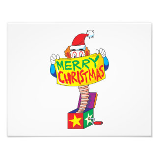 Custom Merry Christmas Jack in a Box Wind Up Cards Photograph