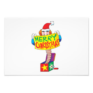 Custom Merry Christmas Jack in a Box Wind Up Cards Photo Print