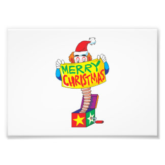 Custom Merry Christmas Jack in a Box Wind Up Cards Photographic Print