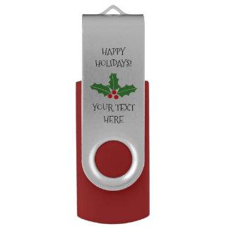 Custom Merry Christmas party favor USB flash drive