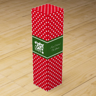 Custom Merry Christmas party favor wine gift box
