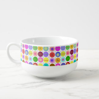 Custom Merry Christmas Peace and Joy Soup Mug