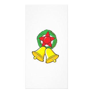 Custom Merry Christmas Star Lantern Gift Wrappers Customized Photo Card