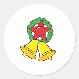 Custom Merry Christmas Star Lantern Invitation Classic Round Sticker