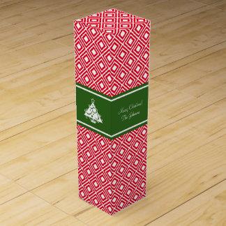 Custom Merry Christmas wine gift box