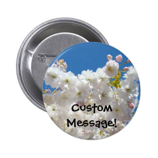 Custom message buttons, promotional Flowers Floral 2 Inch Round Button