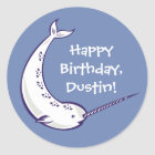 Custom Message Narwhal Stickers or Seals