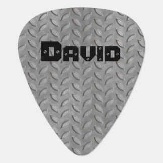 Custom Metal Tread Plate Look Guitar Pick